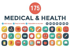 Flat Square Shadow Medical & Health