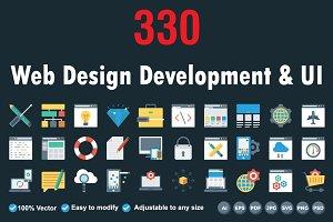 Web Design Development Flat icons