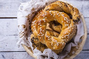 Turkish bagel, simit