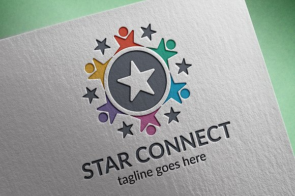 Star Connect Logo in Logo Templates