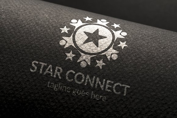 Star Connect Logo in Logo Templates - product preview 1