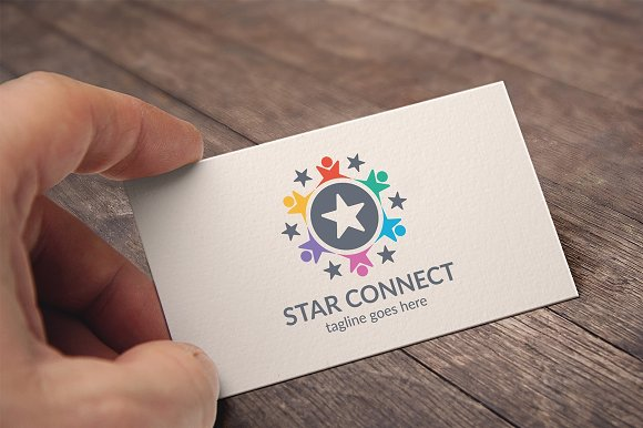 Star Connect Logo in Logo Templates - product preview 2