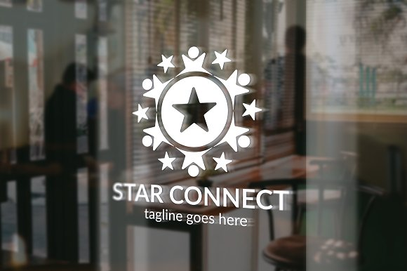 Star Connect Logo in Logo Templates - product preview 3