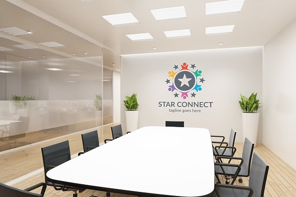 Star Connect Logo in Logo Templates - product preview 4