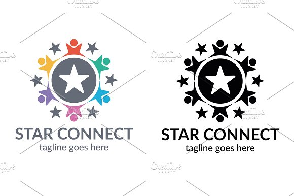 Star Connect Logo in Logo Templates - product preview 5