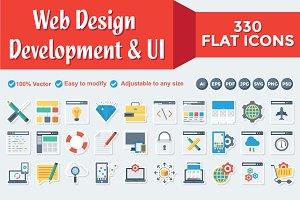Web Design Development Paper icons