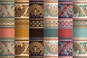 6 Border Egyptian Patterns