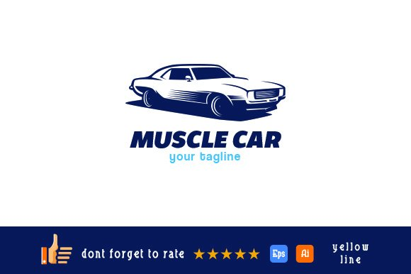 Muscle Car Logo Logo Templates Creative Market