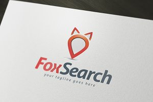 Fox Search Logo Template