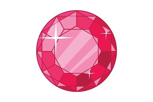Beautiful Red Ruby Icon