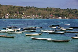 Boats on Lembongan