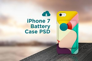 iPhone 7 Battery case PSD