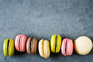 Macaroons background.