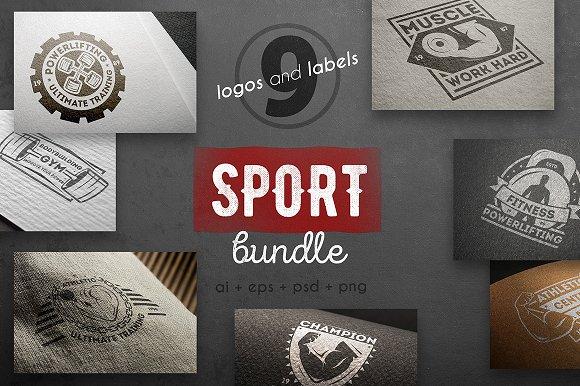 Sport logo kit-Graphicriver中文最全的素材分享平台