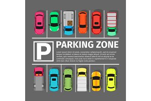 Parking Zone Conceptual Web Banner. Vector