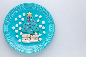 Homemade Christmas tree cookie