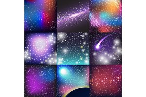 Space background vector.
