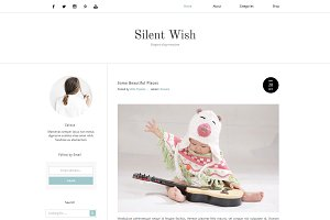 Blogger Template - Silent Wish