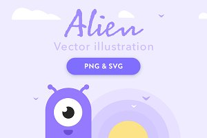Alien vector illustration