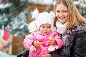Mother and daughter mandarin