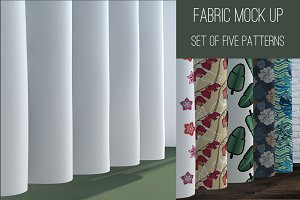 Set of 5 patterns. Mock up.
