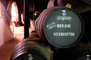 Port barrel in a cellar in Portu