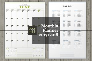 Monthly Planner 2018-2017 (MP036-18)
