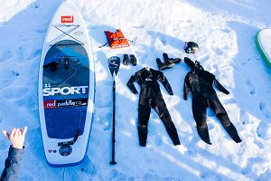 Winter SUP in Russia