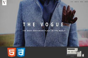 Vogue One Page HTML5 Template
