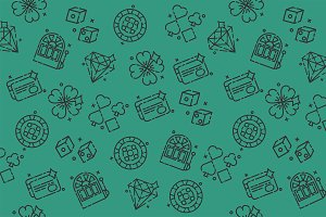 Casino icons pattern