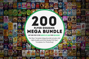 200 Flyer Template Mega Bundle
