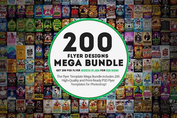 200 flyer template mega bundle flyer templates creative market