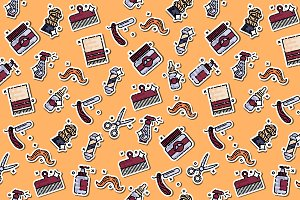 Colored barber shop pattern