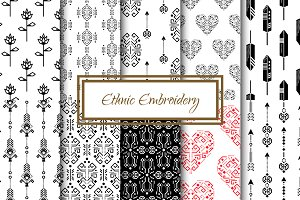 Ethnic Embroidery Seamless Patterns