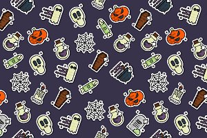 Colored halloween pattern
