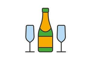Champagne icon. Vector