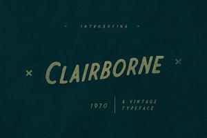 Clairborne Typeface