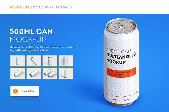 Download Can Mock-up (500 ml)