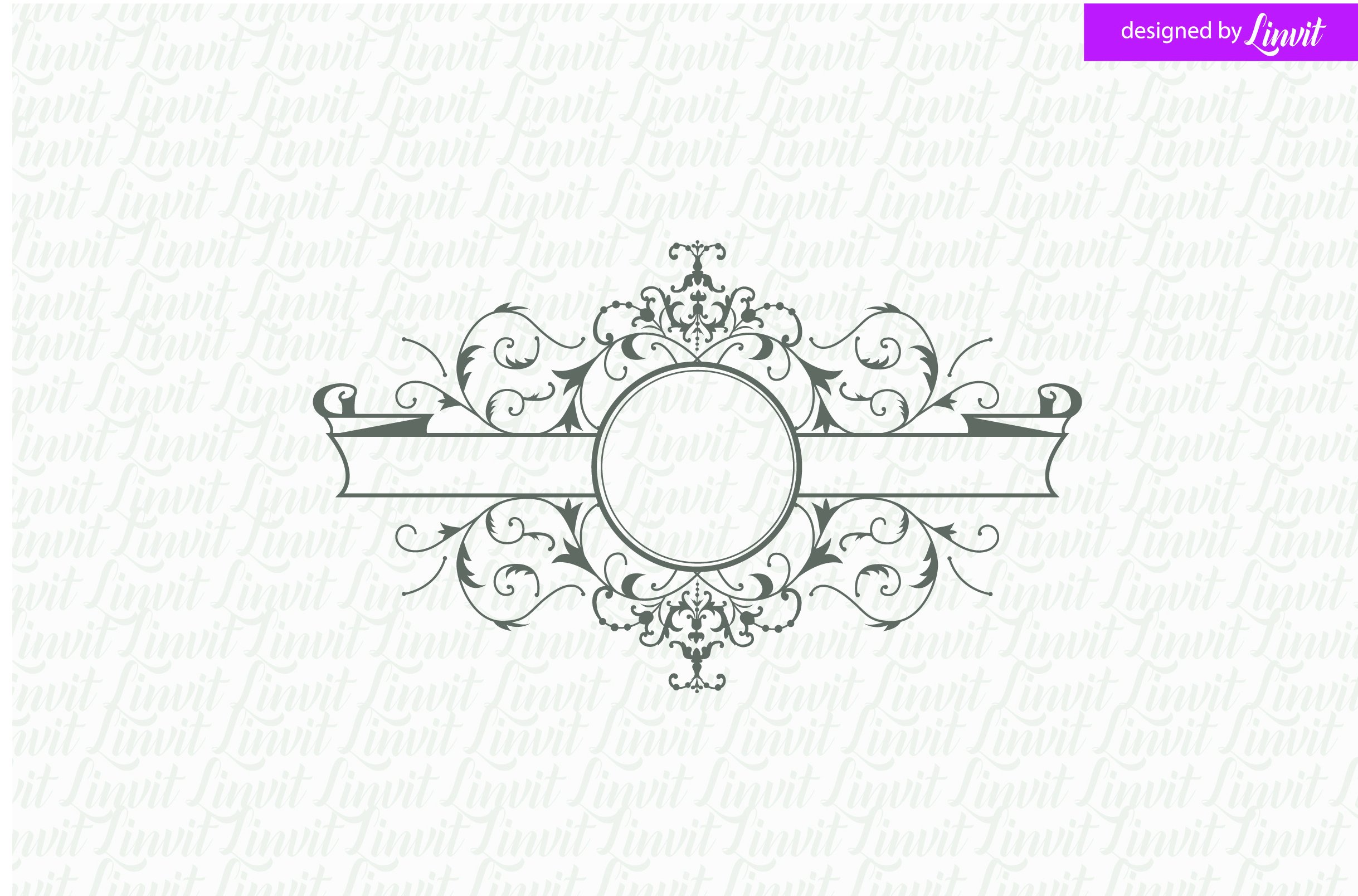 luxury royal wedding logo logo templates creative market. Black Bedroom Furniture Sets. Home Design Ideas