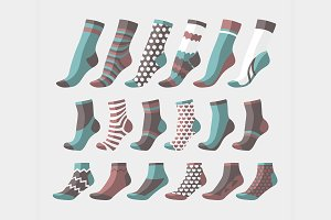 Set icon of colored socks