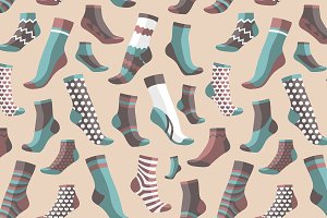 Pattern of colored socks