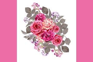 Pink Roses Floral Bouquet
