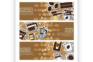 Banners about coffee