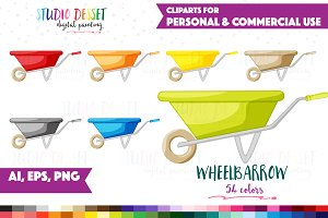 Clipart Wheelbarrow Vector