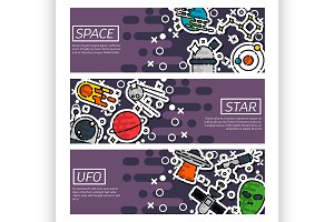 Banners about space