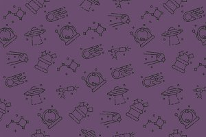 Space icons pattern