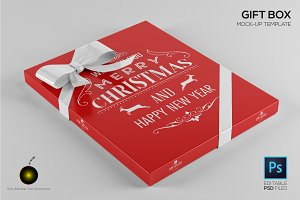 Gift Box Design Mockup Template