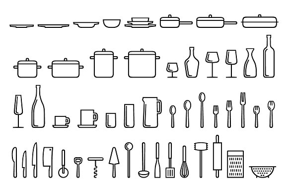 Cookogram, Outline - Icon Pack in Graphics - product preview 4