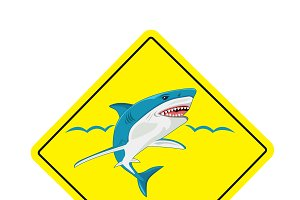 no surf, sharks no swimming sign
