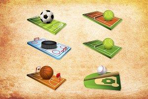 3D Sportfields and balls